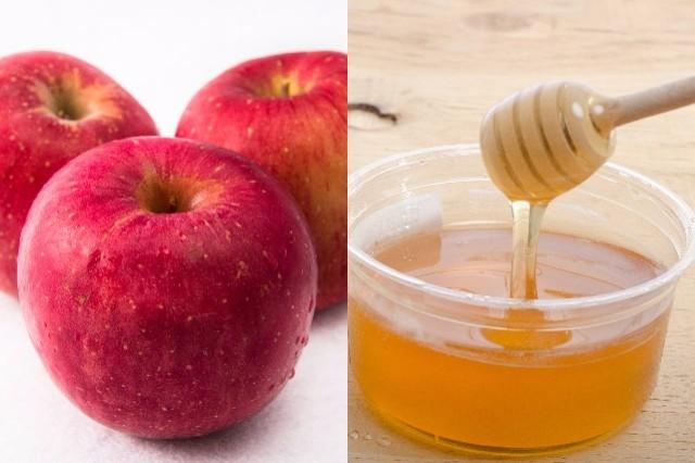 アラフォー食事はちみつりんご