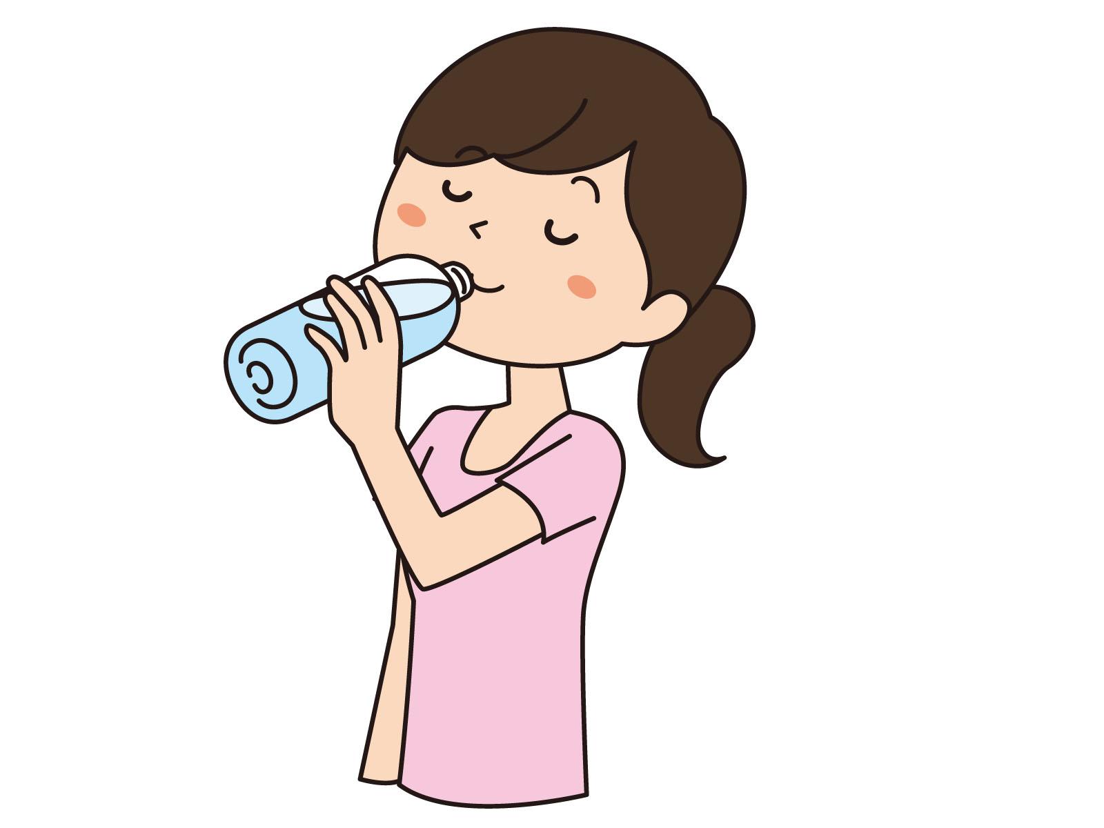 рисунок пьет воду вам