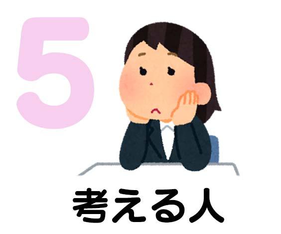 タイプ5 考える人