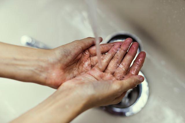 花粉症対策手洗いうがい