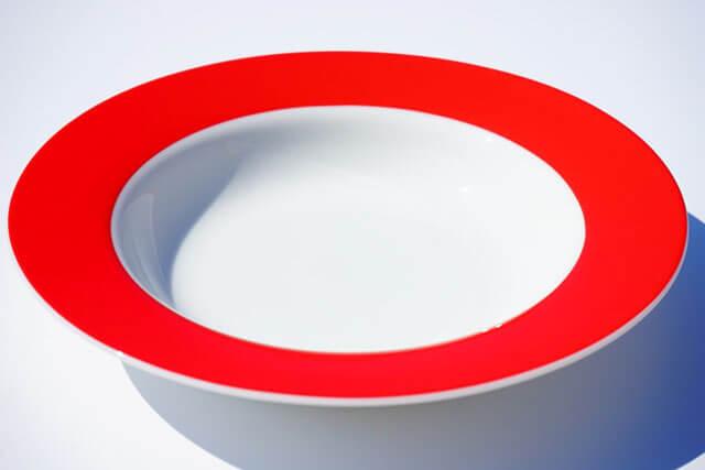 ワンポイント風水食器選び健康運アップ食器赤い食器