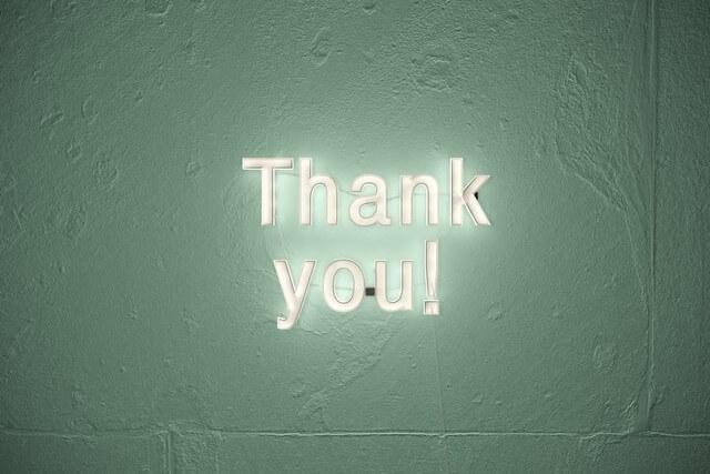 ありがとうという言葉で中古品をお清めする開運アクション